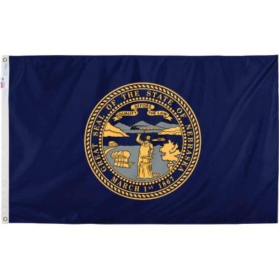 Valley Forge 3 Ft. x 5 Ft. Nylon Nebraska State Flag