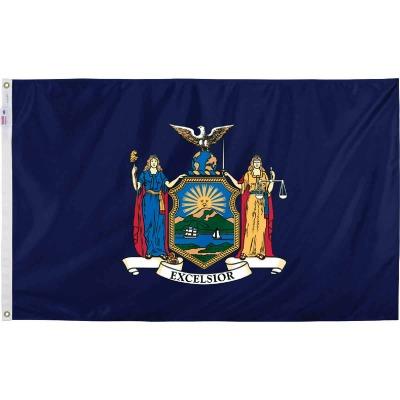 Valley Forge 3 Ft. x 5 Ft. Nylon New York State Flag