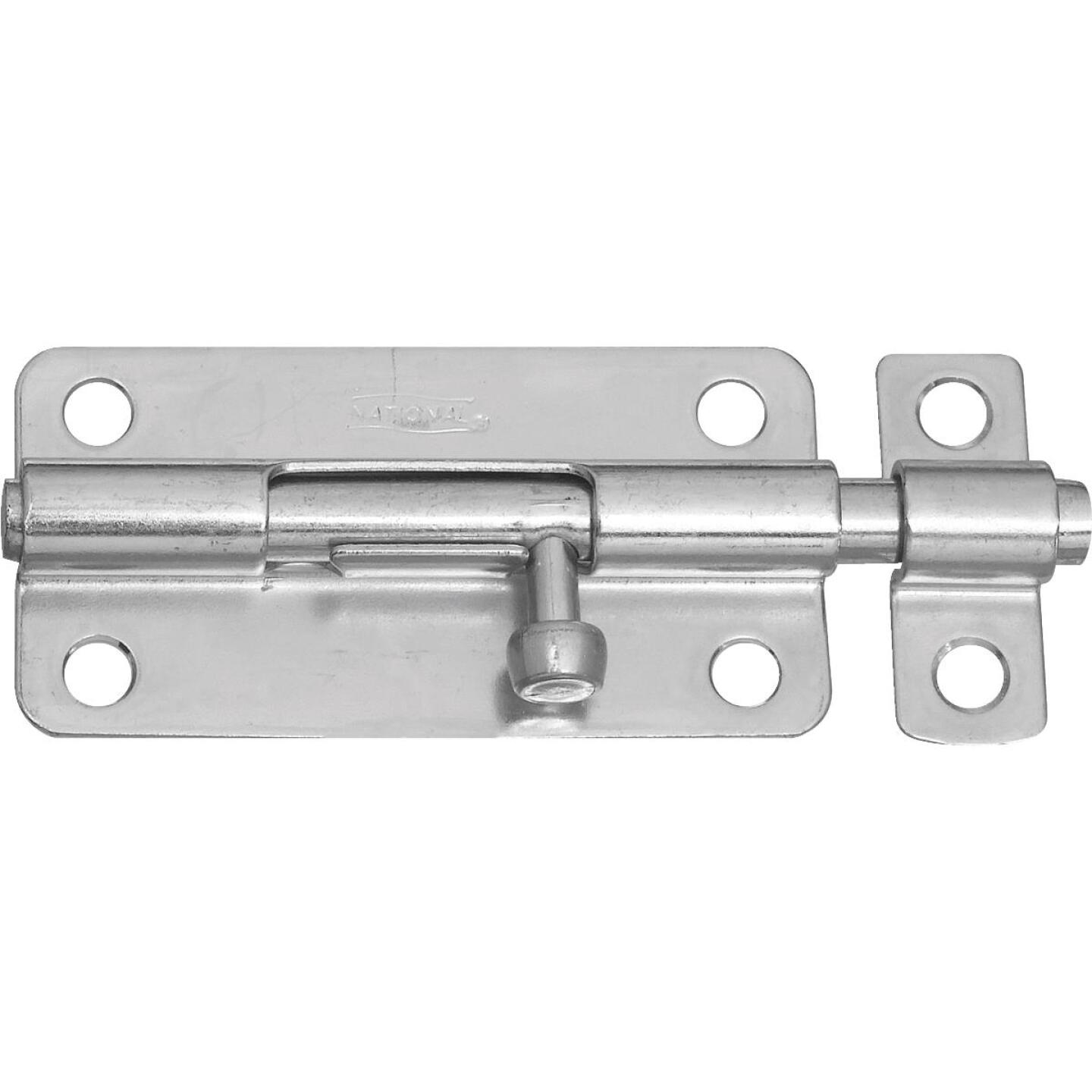 National 4 In. Zinc Steel Door Barrel Bolt Image 1