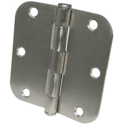 Ultra Hardware 3-1/2 In. x 5/8 In. Radius Satin Nickel Door Hinge (3-Pack)