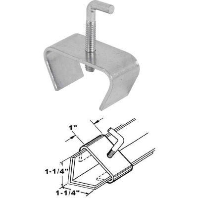 Prime-Line 1-1/4 In. Steel Bed Rail Clamp (2-Pack)