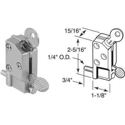 Defender Security Aluminum Step-On Keyed Patio Door Lock