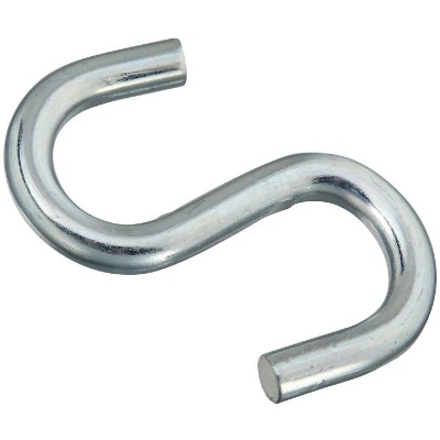 National 4 In. Zinc Heavy Open S Hook