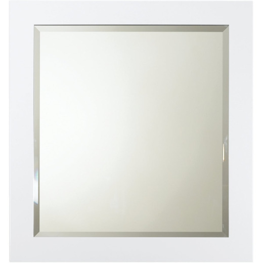 Bertch White 28 In. W x 30 In. H Framed Vanity Mirror