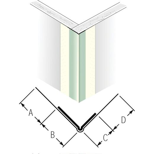 Beadex 1-7/16 In. x 8 Ft. Paper Faced Metal Outside Drywall Corner Bead