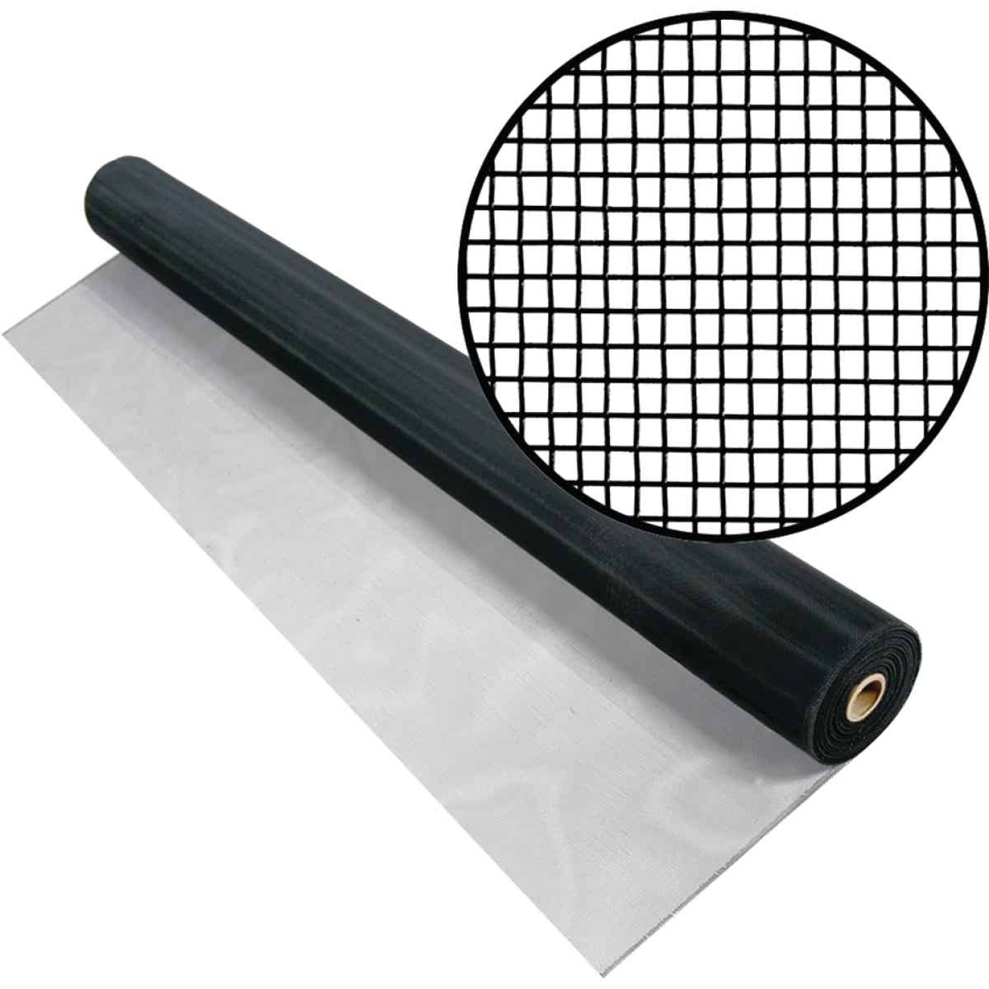 Phifer 60 In. x 100 Ft. Black Aluminum Screen Image 1