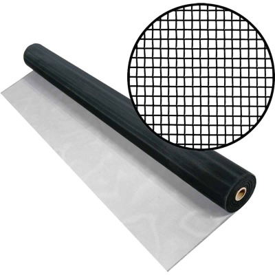 Phifer 60 In. x 100 Ft. Black Aluminum Screen