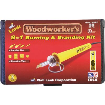 Wall Lenk Woodworker's 30W 8-in-1 Branding & Wood Burning Kit