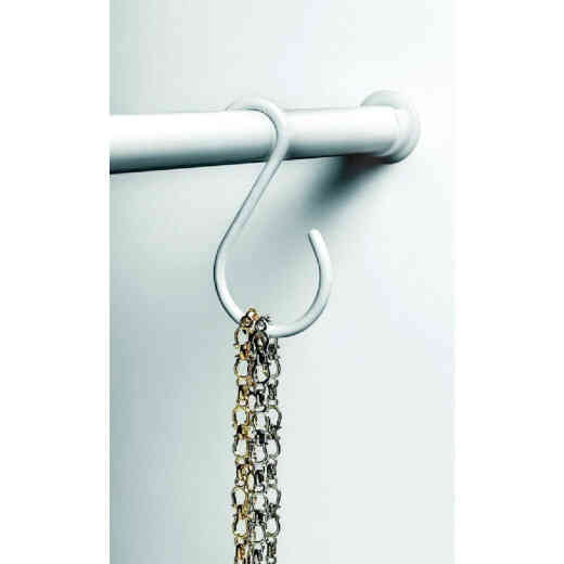 Spectrum White Closet Rod Hook