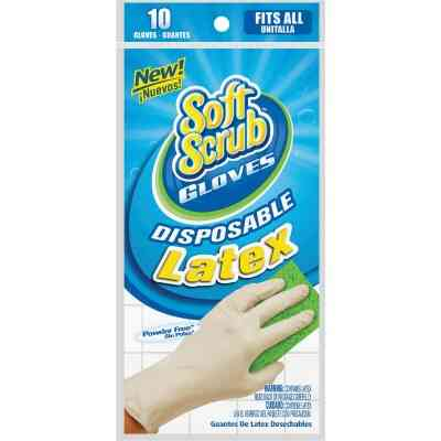 Soft Scrub 1 Size Fits All Latex Disposable Glove (10-Pack)