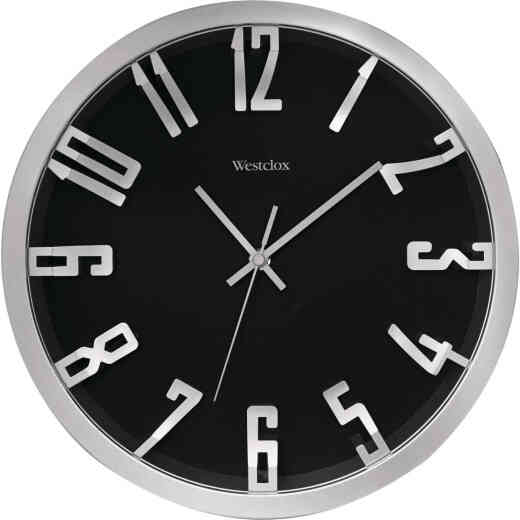 Westclox 12 In. Metallic Silver Wall Clock