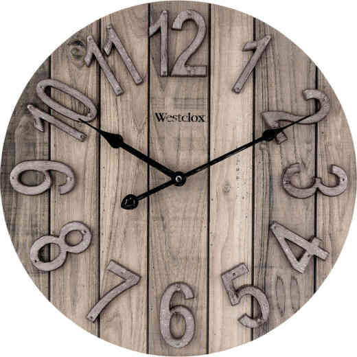 Westclox 15.5 In. Wood Grain Wall Clock