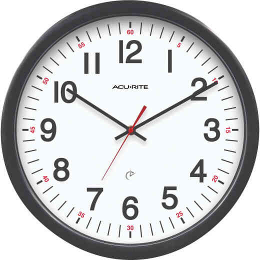 "Acu-Rite 14-1/2"" Set & Forget Timex Office Wall Clock"