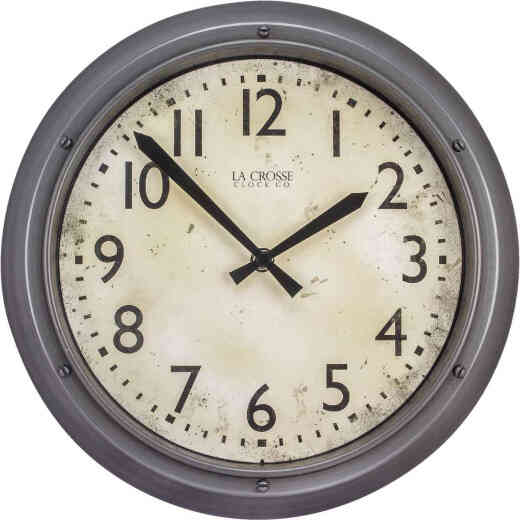 La Crosse Technology Metallic Finish Wall Clock