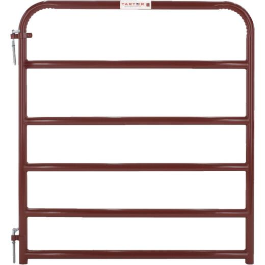 Tarter 50 In. H. x 4 Ft. L. x 1-3/4 In. Tube Diameter Red Economy Tube Gate
