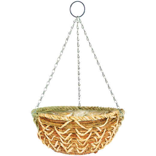 Gardman 14 In. Banana Braid Fiber Woven Hanging Plant Basket