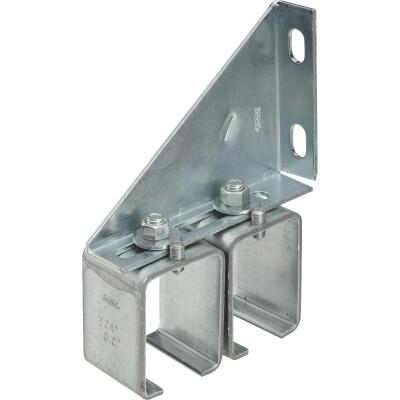 National Galvanized Double Splice Box Rail Barn Door Bracket