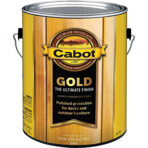 Cabot Gold Exterior Stain, Sun-Drenched Oak, 1 Gal.