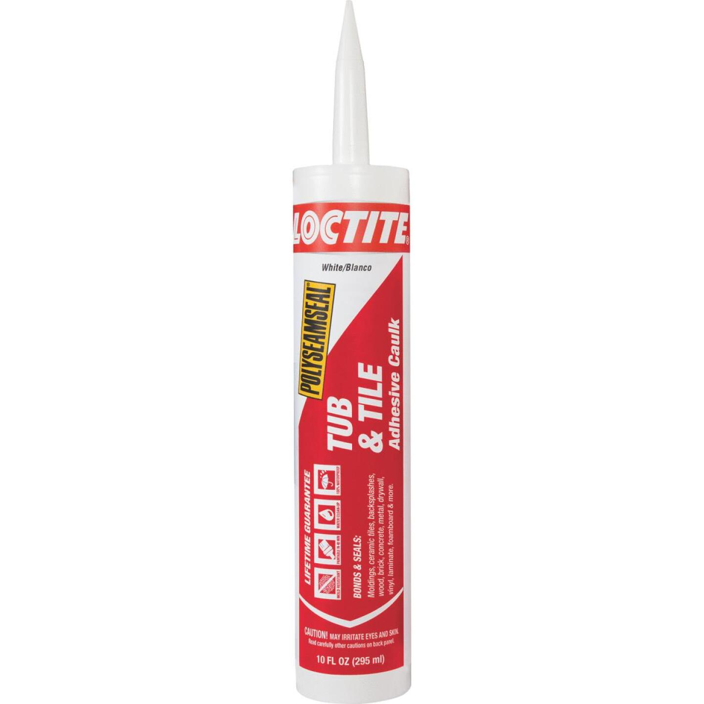 LOCTITE POLYSEAMSEAL 10 Oz. White Kitchen & Bath Caulk Image 1